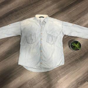 Zara Trufaluc Faded Denim Shirt